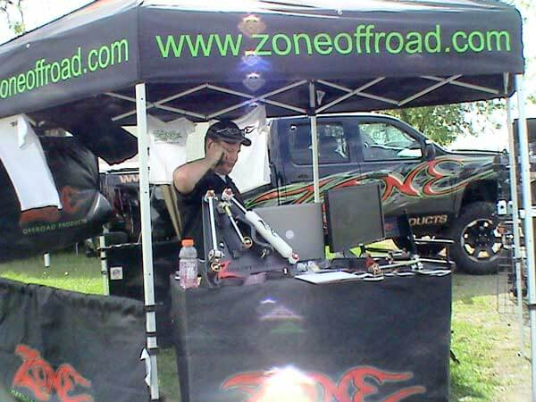 Zone booth at the Lima 4-Wheel Jamboree