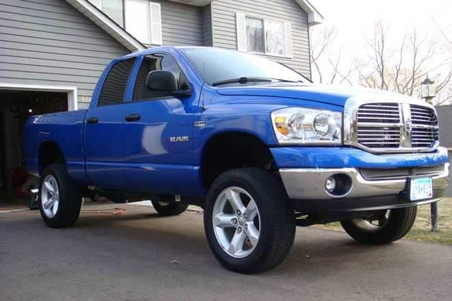 "2008 Dodge Ram with 3"" Zone body lift"
