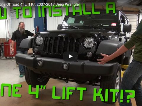 "How to Install: Zone Offroad 4"" Lift Kit 2007-2017 Jeep Wrangler"