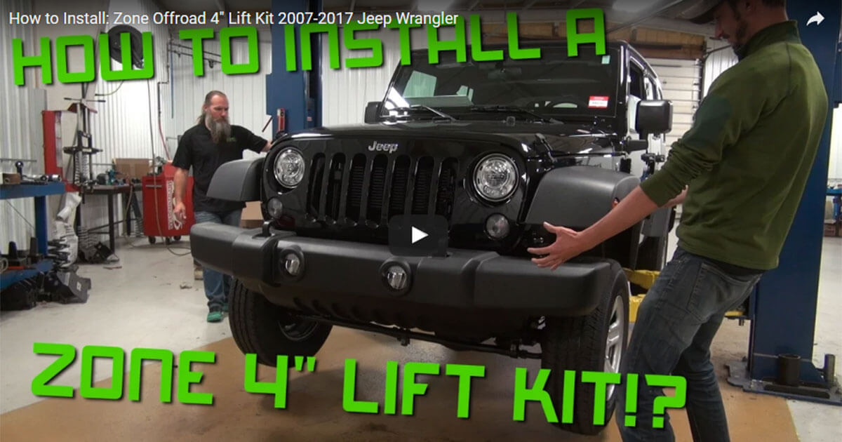 """How to Install: Zone Offroad 4"""" Lift Kit 2007-2017 Jeep Wrangler"""