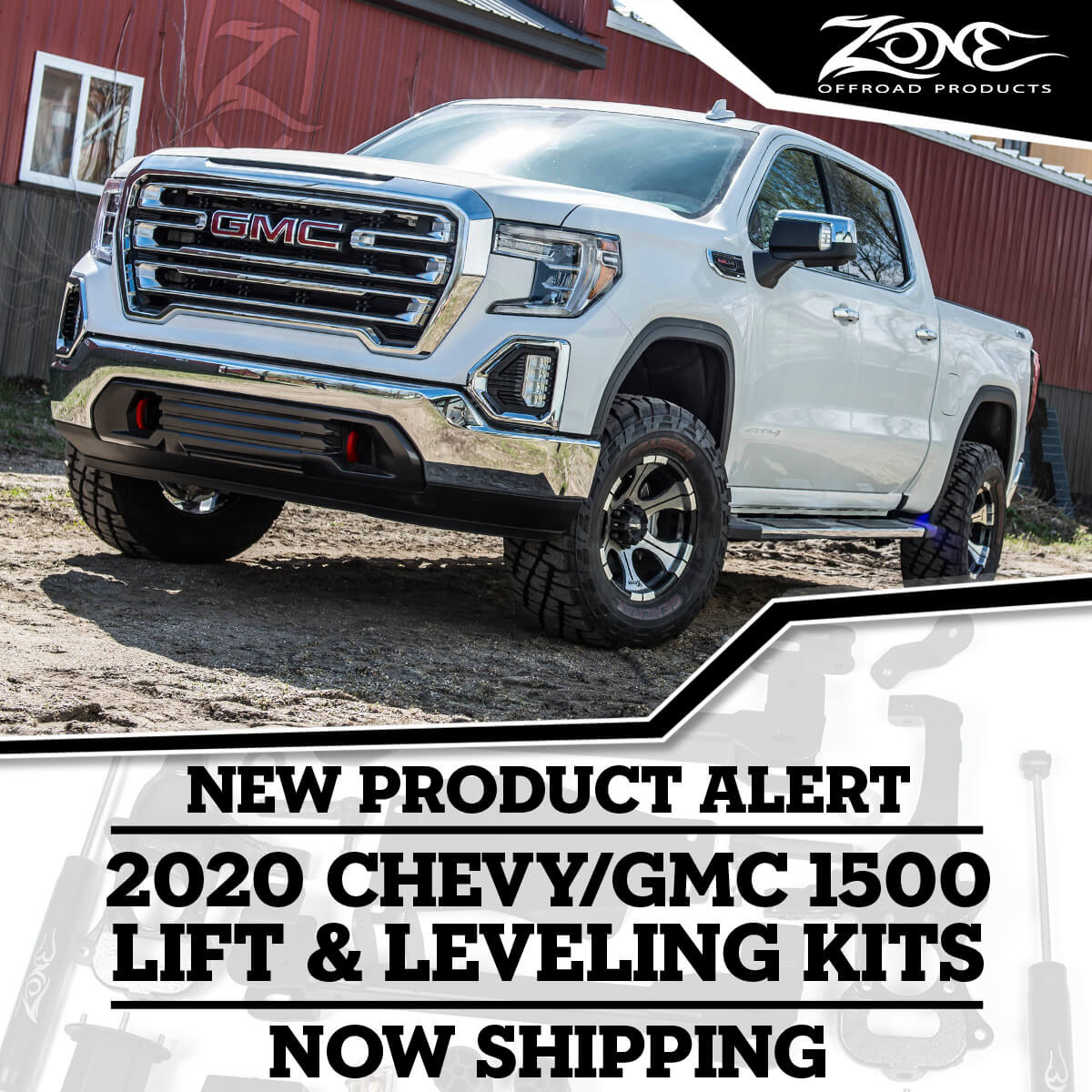 Lift Kits For The 2020 Chevy Gmc 1500 Trucks Npa 157 Zone Offroad News