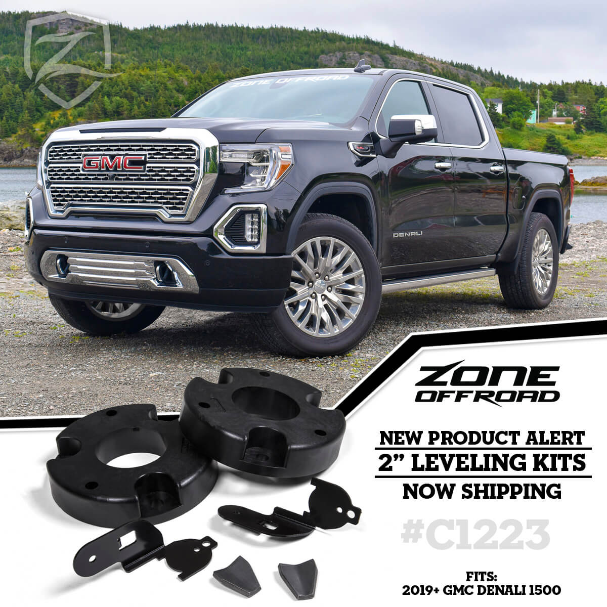 "2"" Leveling Kit for 2019-2020 GMC Denali 1500 Trucks from Zone Offroad"