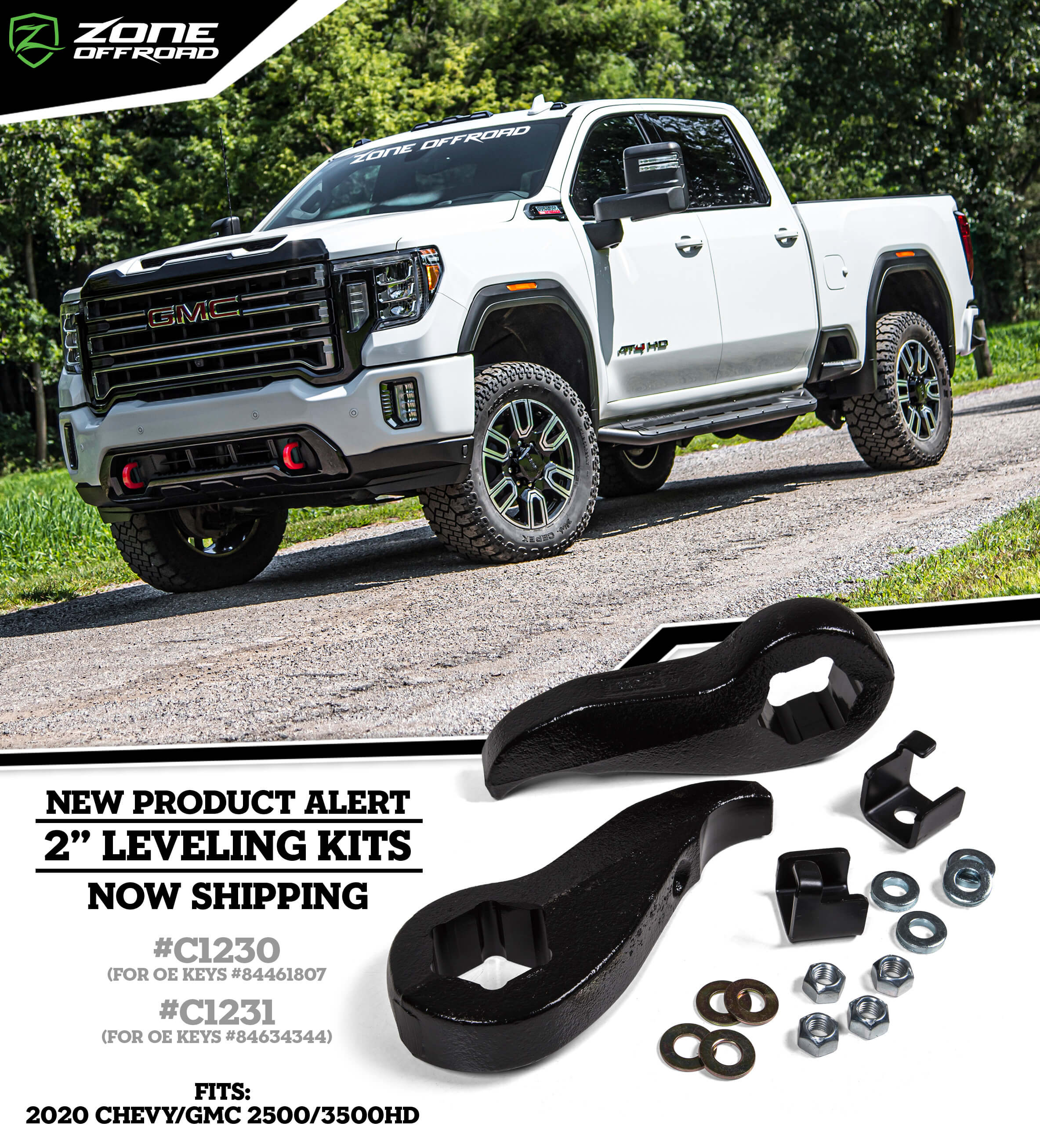 2020 Chevy Gmc 2500hd 3500hd 2 Front Leveling Kit Npa 164 Zone Offroad News