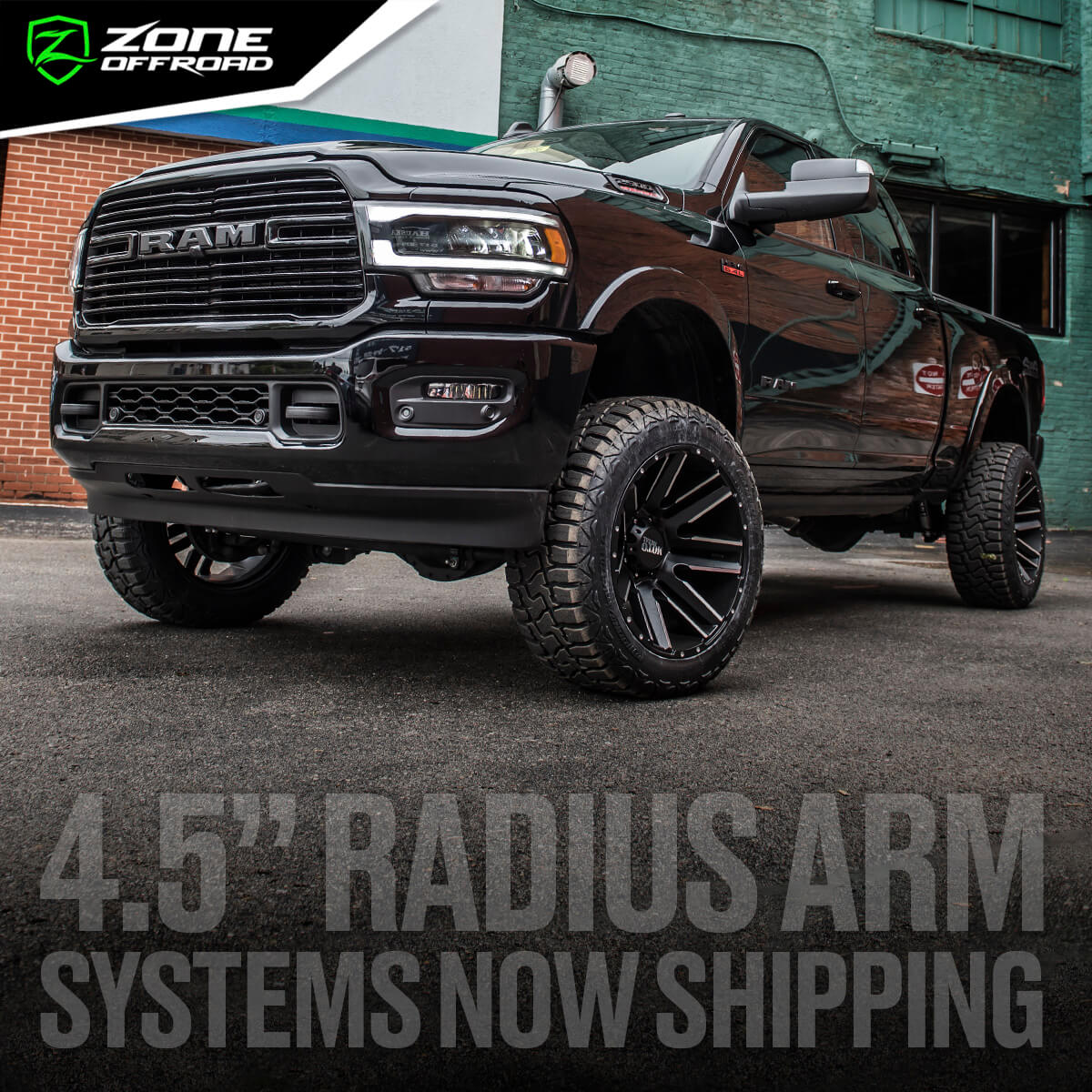"4.5"" Lift Systems for 2019+ RAM 2500 Trucks from Zone Offroad"