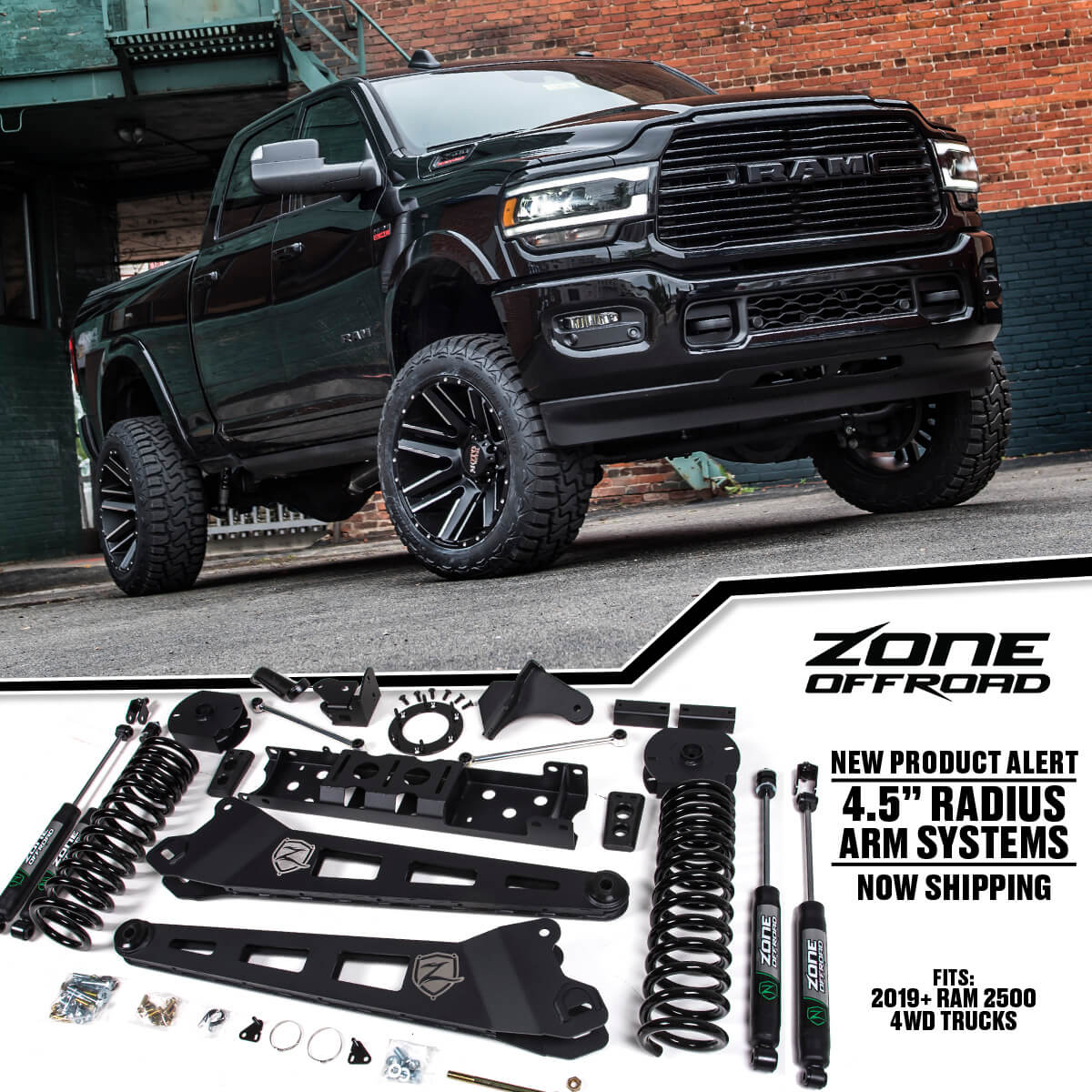2019 Ram 2500 Lift Kits By Zone Offroad Products