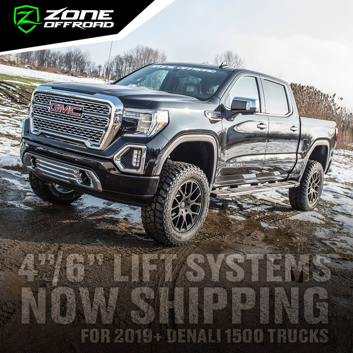 "4""/6"" Lift Systems for 2019+ Denali 1500 Trucks from Zone Offroad"