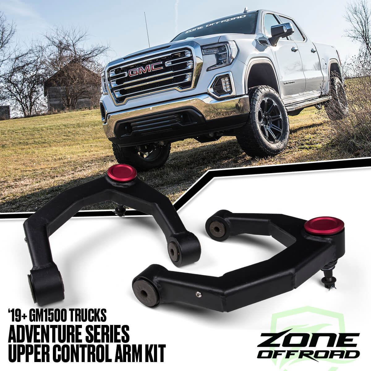 Adventure Series UCA Kit for 2019-2020 Chevy/GMC 1500 Trucks from Zone Offroad